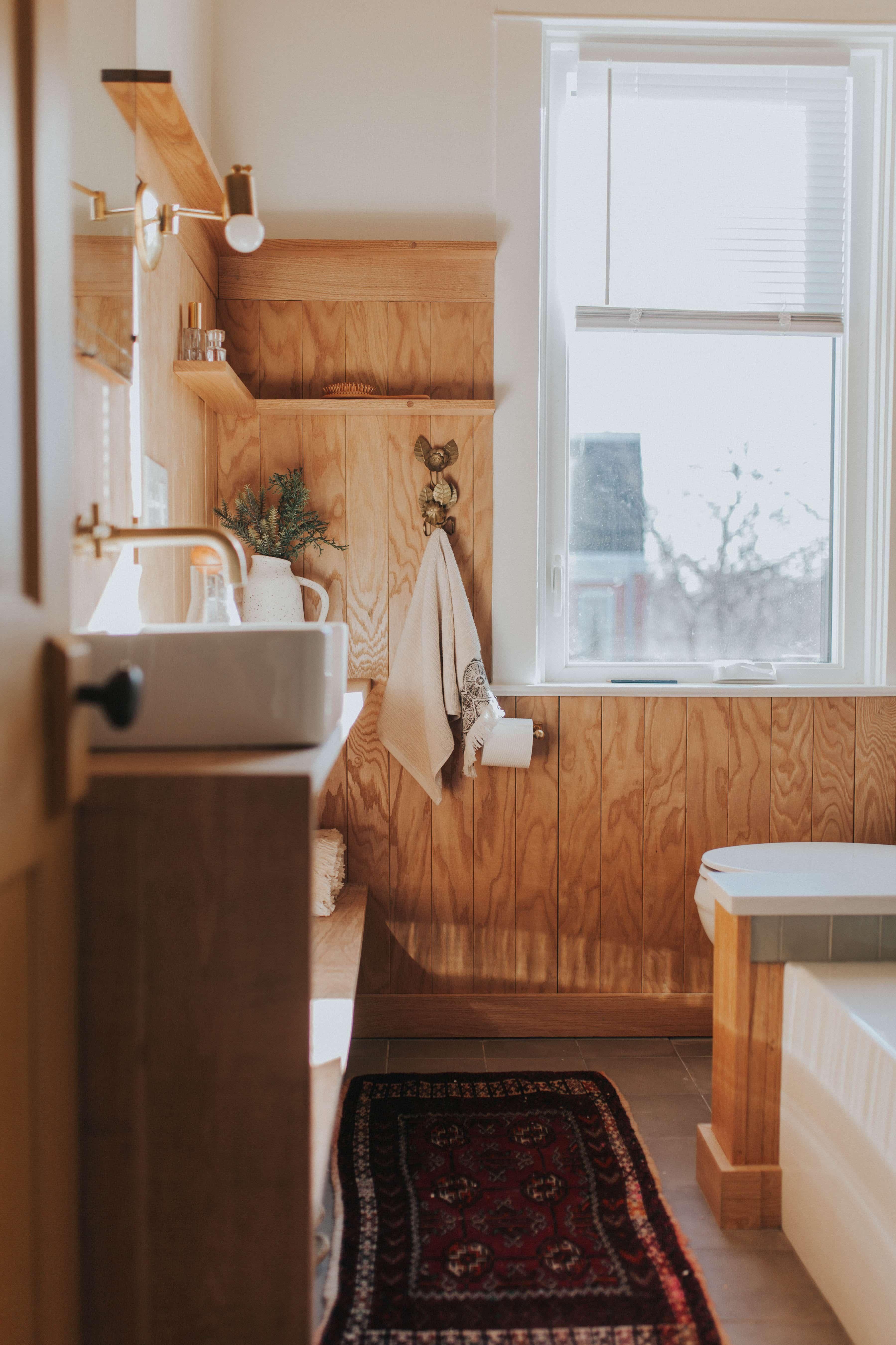 creative retro bathroom renovation